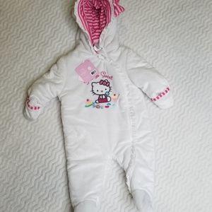 HELLO KITTY HW Velboa Pram White Sz 3-6 months